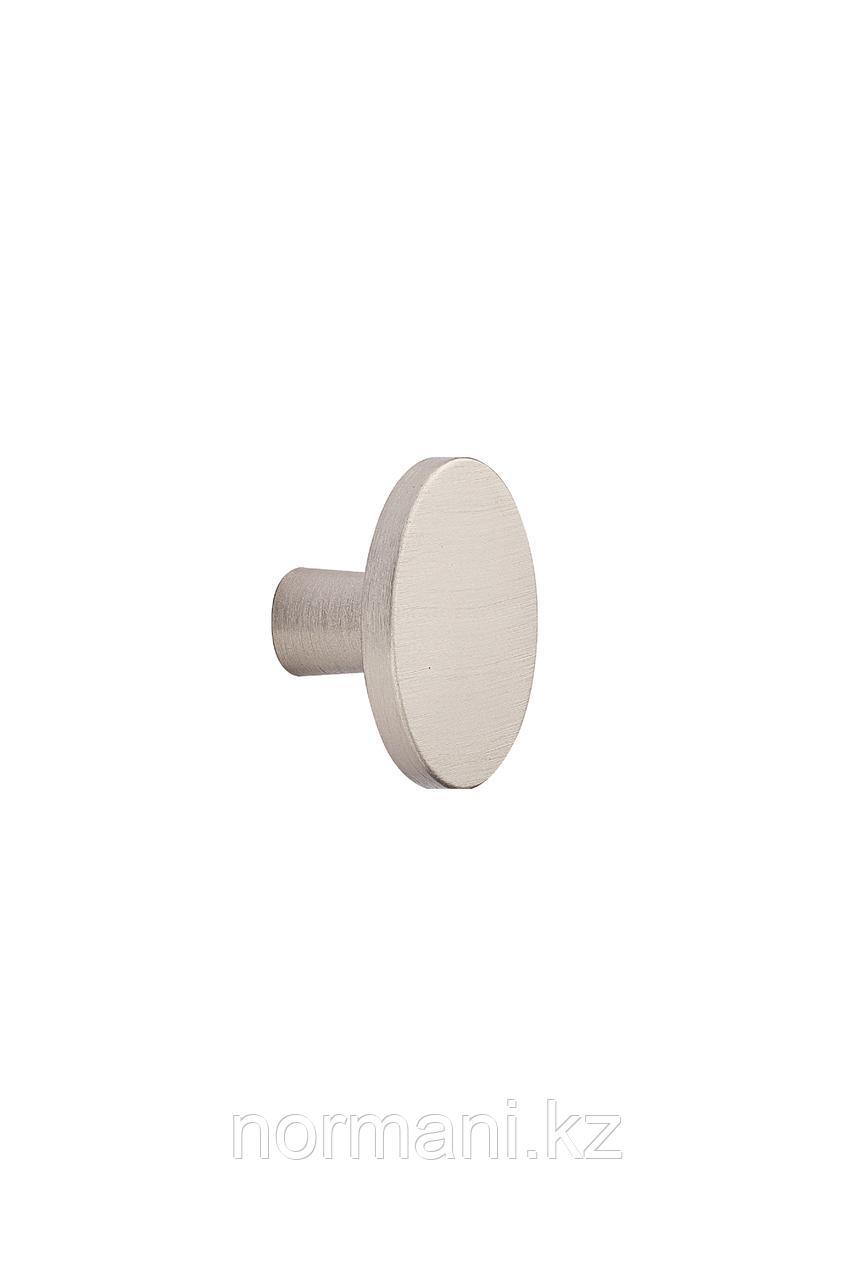 Мебельная ручка кнопка PLATO d.42мм, отделка сталь шлифованное