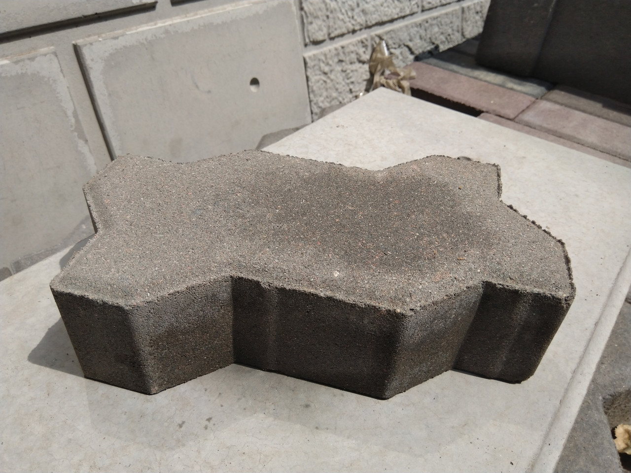 """Брусчатка и тротуарная плитка """"Волна"""" вибро-прессованная СЕРАЯ, толщина 6 см"""