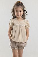 Комплект Кокетка блузка с шортами, на 4-8 лет. ОЧЕНЬ ИНТЕРЕСНАЯ МОДЕЛЬ!