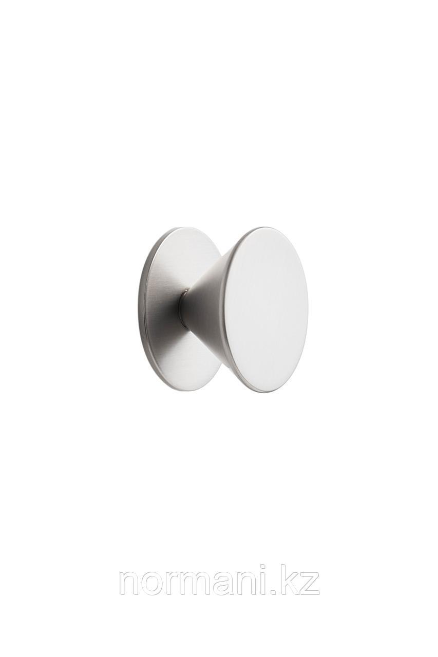 Мебельная ручка кнопка ORBIT d.36мм, отделка сталь шлифованная