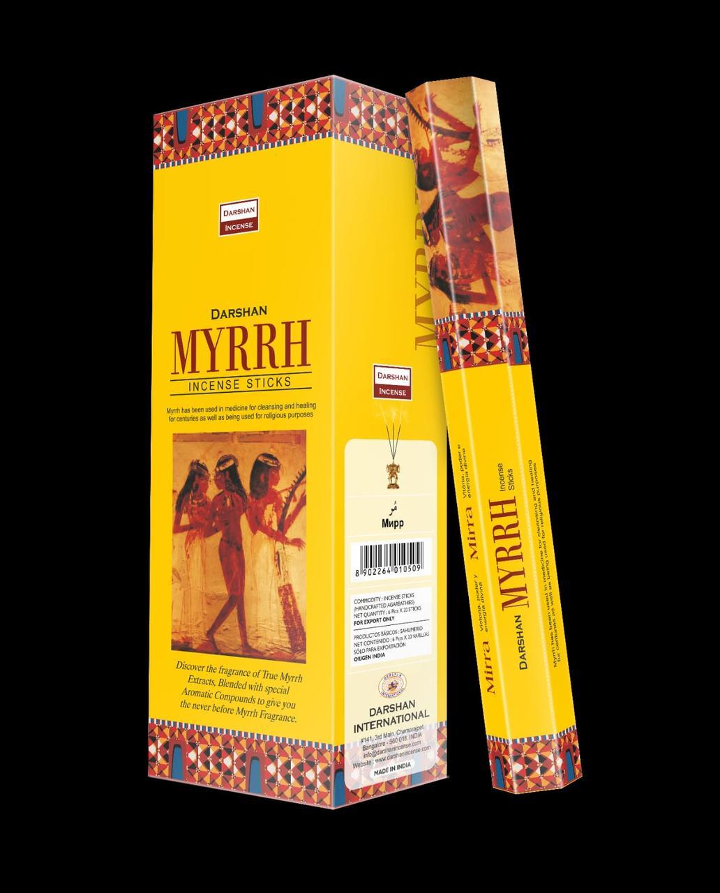 Угольные благовония Мирр, Даршан, 20 палочек
