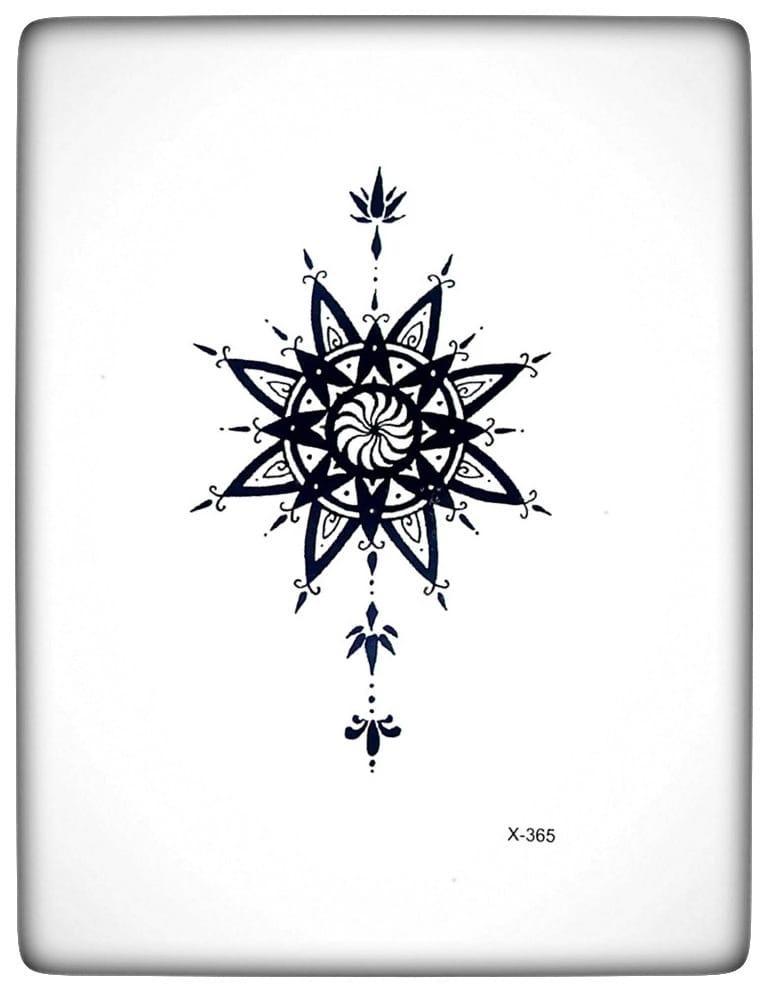 """Водостойкая временная тату - наклейка """"Узорная звезда"""""""