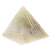 Пирамида из камня оникс зеленая 3,5х3,5х3,6 см (1,25)