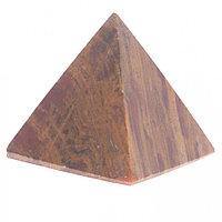 Пирамида из камня оникс зелено-коричневый 3,5х3,5х3,6 см (1,25)