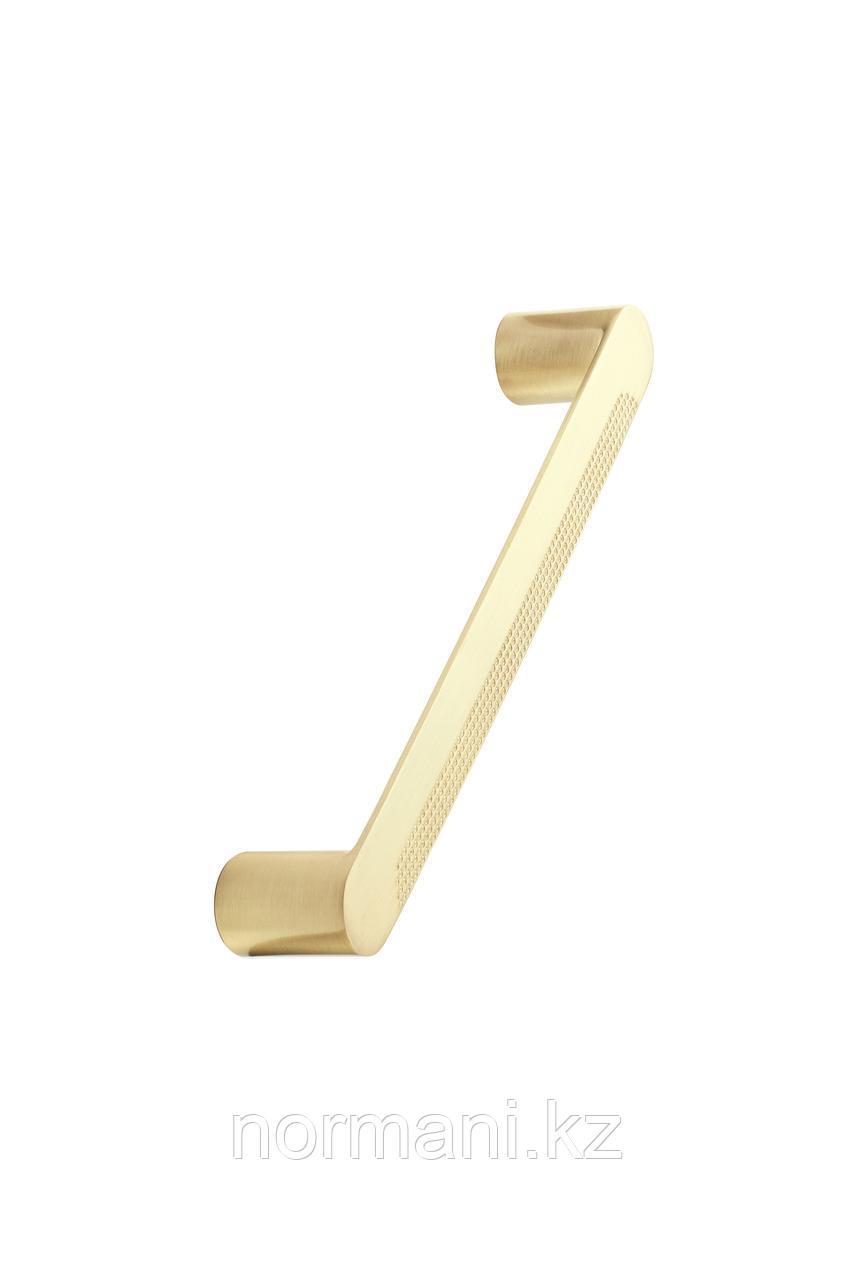 Мебельная ручка скоба 160мм METRO, отделка золото шлифованное