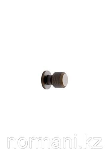 Мебельная ручка кнопка MANOR ROUND d.35мм, отделка золото темное