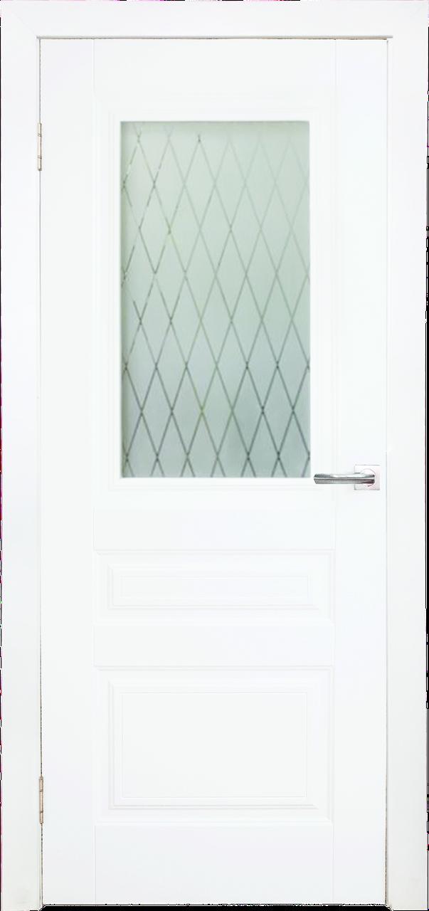 Межкомнатная дверь ДЛ 505_1 - Белое дерево