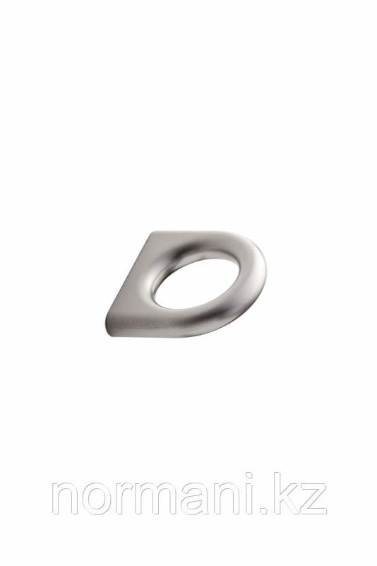Мебельная ручка кнопка 32мм LUCK, отделка сталь шлифованная