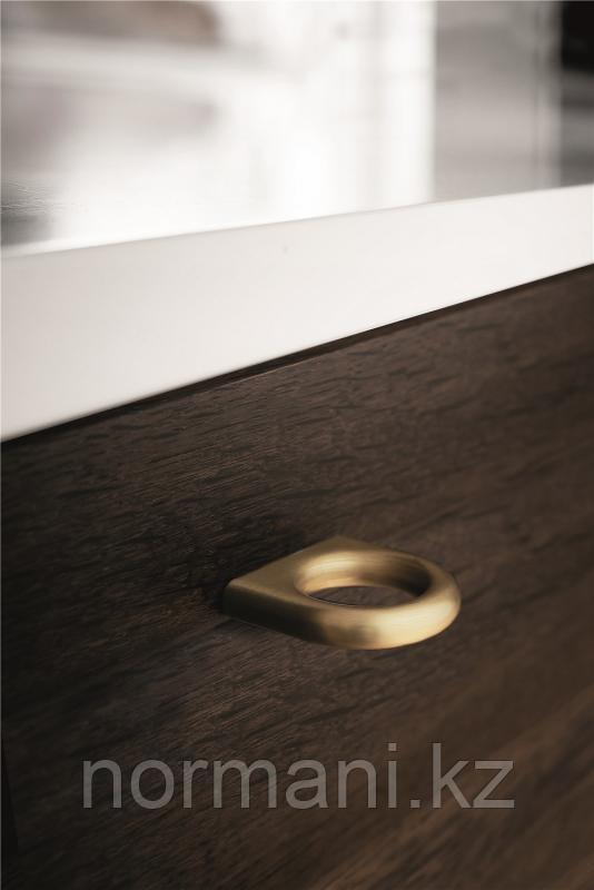 Мебельная ручка кнопка 32мм LUCK, отделка золото шлифованное