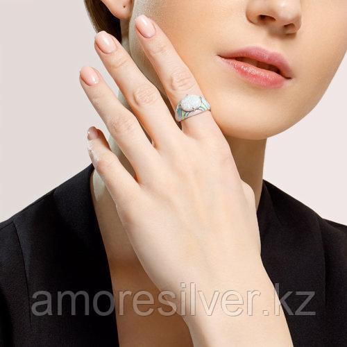 Кольцо SOKOLOV серебро с родием, опал синт. эмаль, абстракция 83010037 размеры - 16,5 17 18 18,5 - фото 3
