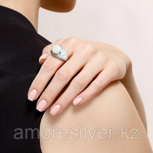 Кольцо SOKOLOV серебро с родием, опал синт. эмаль, абстракция 83010037 размеры - 16,5 17 18 18,5 - фото 4
