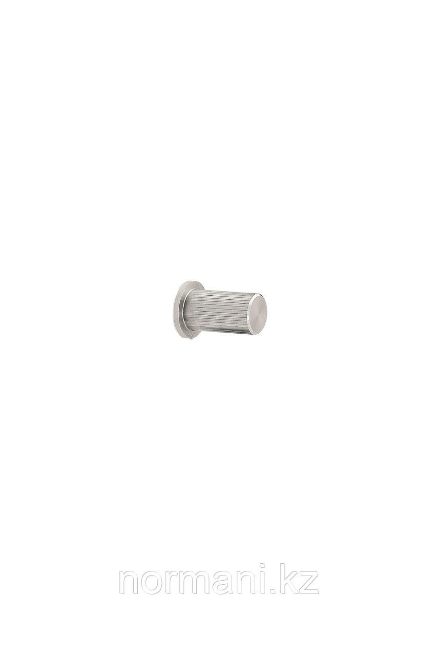 Мебельная ручка кнопка LINEAR d.18мм, отделка сталь шлифованная