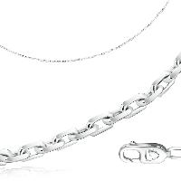 Цепь Бронницкий ювелир серебро с родием, без вставок, якорная 81035141450 размеры - 50