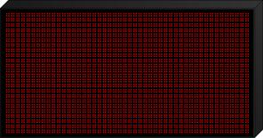 Панель для эл.табло 32х16см красн