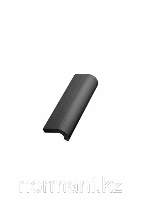 Мебельная ручка INVERT L.120мм, отделка черный шлифованный