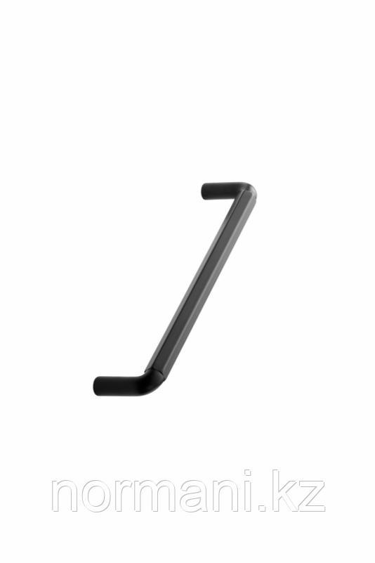 Мебельная ручка скоба 160мм HEXA, отделка черный матовый