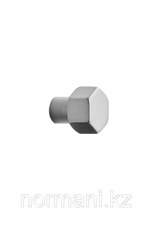 Мебельная ручка кнопка HEXA d.24мм, отделка сталь шлифованная