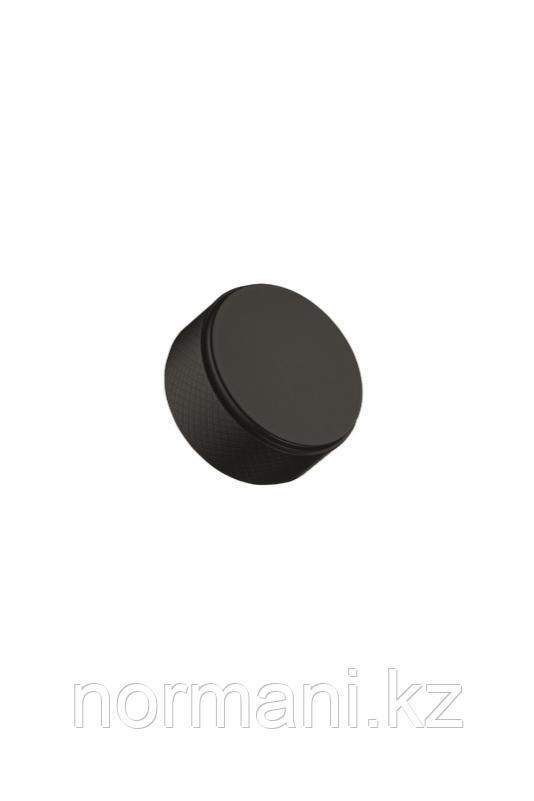 Мебельная ручка кнопка HARLEQUIN MINI d.34мм, отделка черный матовый