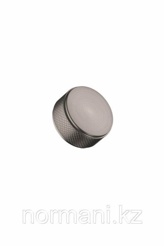 Мебельная ручка кнопка HARLEQUIN MINI d.34мм, отделка сталь шлифованная