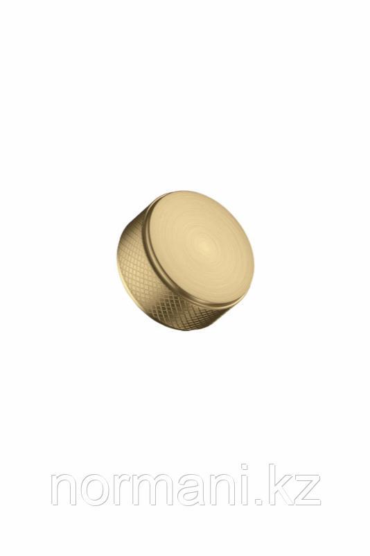 Мебельная ручка кнопка HARLEQUIN MINI d.34мм, отделка золото шлифованное
