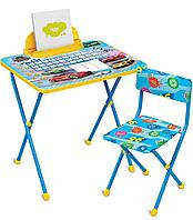 Детский стол Ника стол+мягкий стул Большие Гонки КП2/15