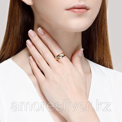 Обручальное Кольцо SOKOLOV серебро с позолотой, без вставок 93110016 размеры - 17 17,5 18 18,5 19 20 20,5 - фото 3