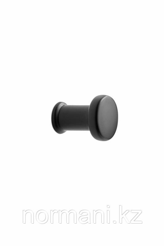Мебельная ручка кнопка GATE d.23мм, отделка черный матовый