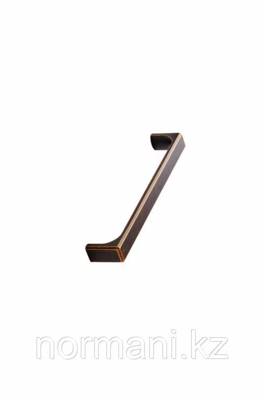 Мебельная ручка скоба 160мм FOLD  HANDLE, отделка бронза темная