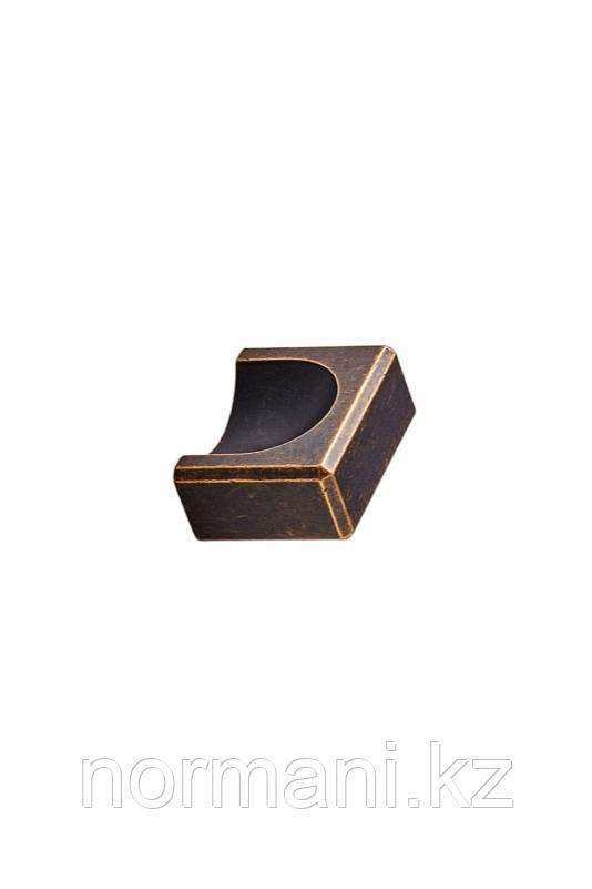 Мебельная ручка кнопка 32мм FOLD KNOB, отделка бронза темная