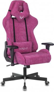 Кресло игровое Zombie VIKING KNIGHT Light-15 малиновый ткань с подголов. крестовина металл