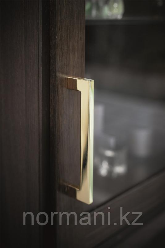 Мебельная ручка скоба 192мм FLAT, отделка золото глянец