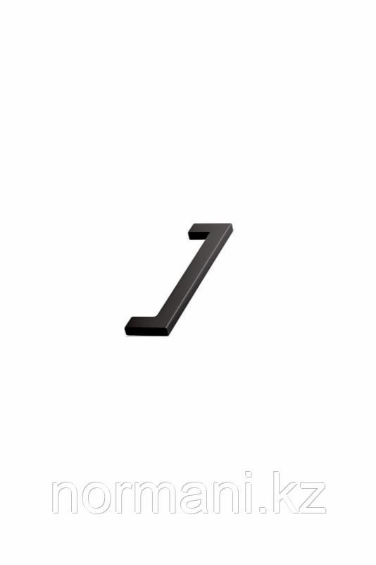 Мебельная ручка скоба 128мм FLAT, отделка черный матовый