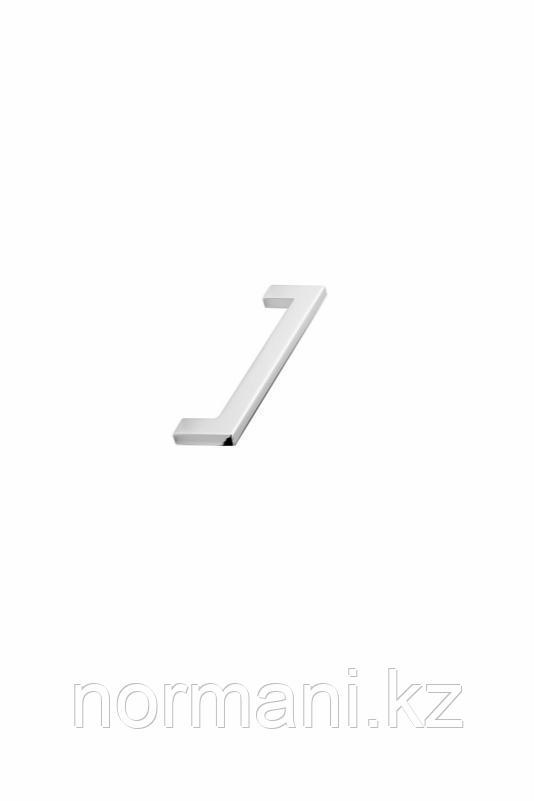 Мебельная ручка скоба 128мм FLAT, отделка хром глянец