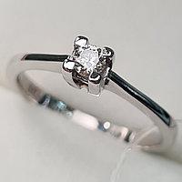 Золотое кольцо с бриллиантами 0.10Сt SI1/I, EX - Cut, фото 1