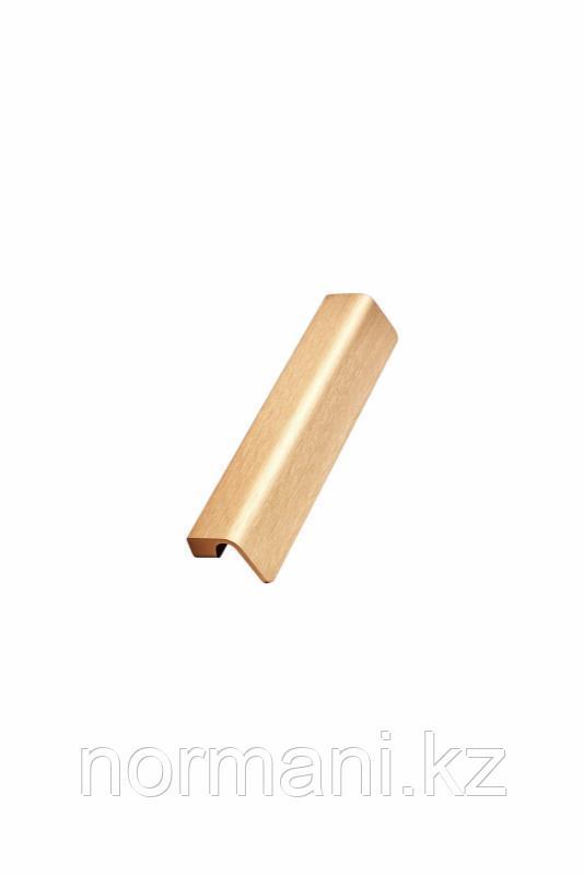 Мебельная ручка FALL L.140мм, отделка золото шлифованное