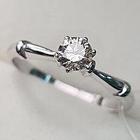 Золотое кольцо с бриллиантами 0.27Сt SI2/K, EX - Cut, фото 1