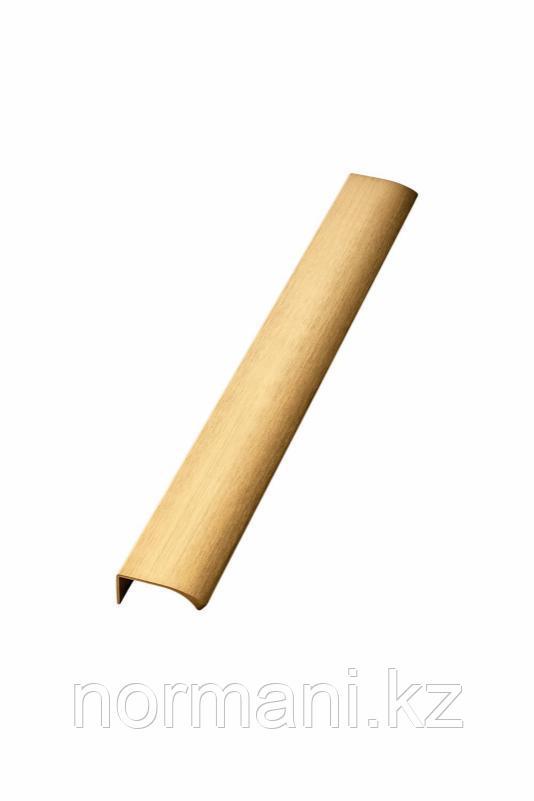 Мебельная ручка накладная EDGE STRAIGHT L.350мм, отделка золото шлифованное