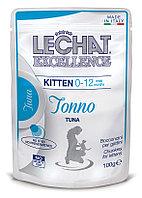 Lechat Корм для котят Кусочки с тунцом