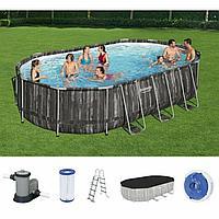 Каркасный бассейн BestWay, 610х366х122 см