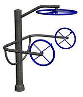 Уличный тренажер для инвалидов «Штурвал тройной»