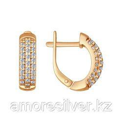 Серьги SOKOLOV серебро с позолотой, фианит , дорожка 93020635