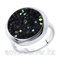 Кольцо SOKOLOV серебро с родием, кристалл swarovski fine rocks , многокаменка 94012429 размеры - 16 16,5 17