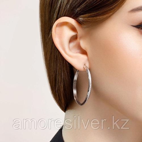 Серьги SOKOLOV серебро с родием, без вставок 94140068 - фото 2