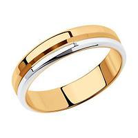 Обручальное кольцо SOKOLOV серебро с родием, без вставок, гладкое 94110029 размеры - 15 15,5 16 16,5 17 17,5