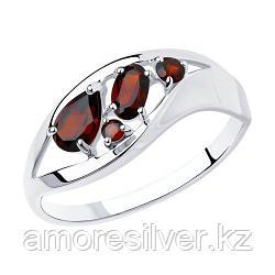 Кольцо SOKOLOV серебро с родием, гранат 92011575 размеры - 16 20