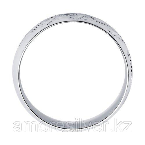 """Обручальное кольцо SOKOLOV серебро с родием, без вставок, """"насечки"""" 94110017 размеры - 15,5 16 16,5 17 17,5 18 - фото 2"""