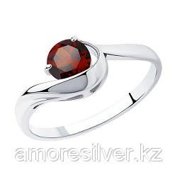 "Кольцо SOKOLOV серебро с родием, гранат, ""каратник"" 92011756 размеры - 16,5 17 18"