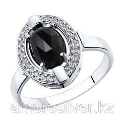 Кольцо SOKOLOV серебро с родием, агат фианит , овал 92011798 размеры - 17 17,5 19,5