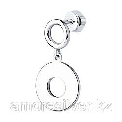 Серьги SOKOLOV серебро с родием, без вставок 94170080