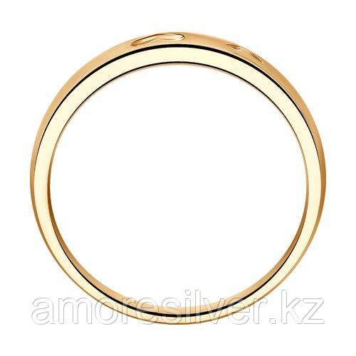 Кольцо SOKOLOV серебро с позолотой, фианит , love 93010409 размеры - 14 15 15,5 16 17 - фото 2
